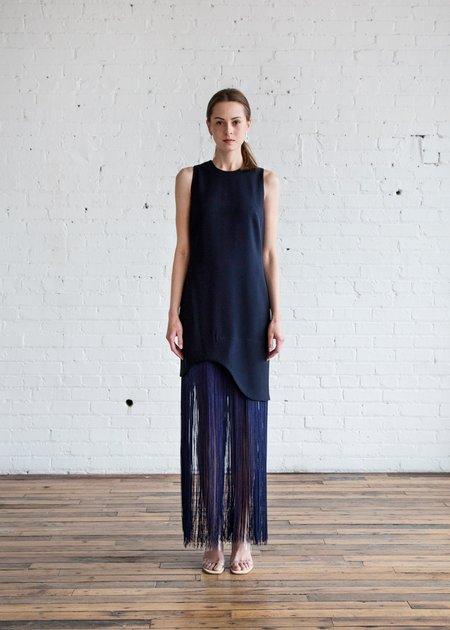 Nomia Curved Fringe Dress - Midnight
