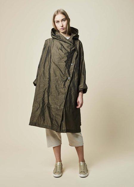 Raffauf Hooded Oversize Spring Coat - Olive