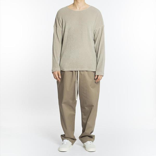 S.K. Manor Hill Long Sleeve Dolman T-Shirt - Taupe