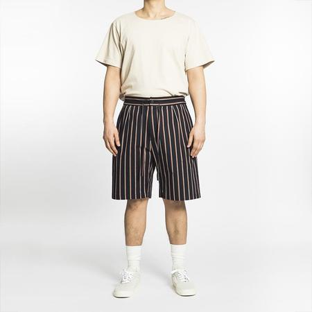 S.K. Manor Hill Sahara Short - Navy/Orange Stripe