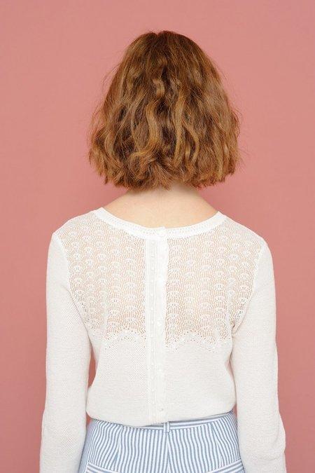 Des Petits Hauts Antalie Long-Sleeved Pullover Top - Ecru