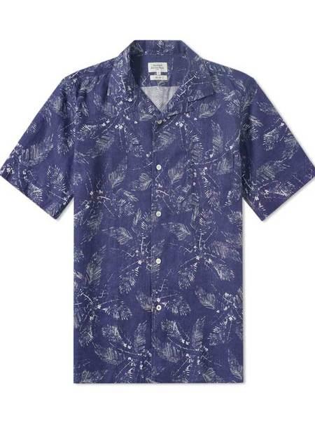 Hartford Slam Leaf Linen Shirt