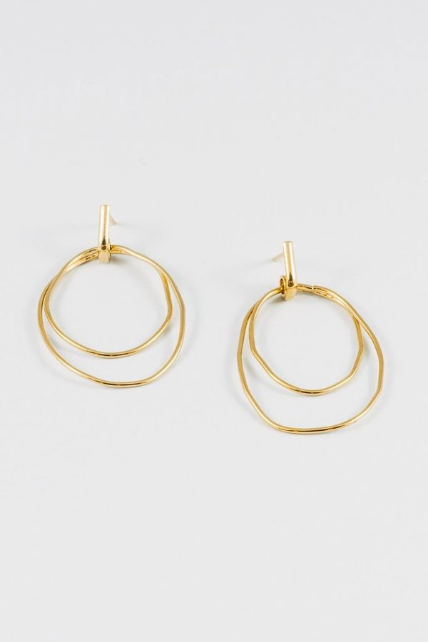 Wolf Circus Camilla Wire Hoops Earrings - Gold