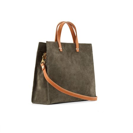 Clare V. Petit Simple Suede Tote