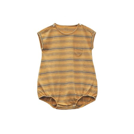 Kids Le Petit Germain Pepino Romper - MELON STRIPE