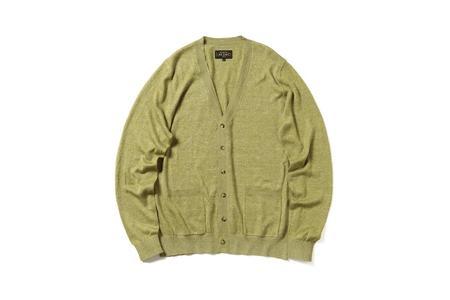Beams + Linen Silk Cardigan - Green
