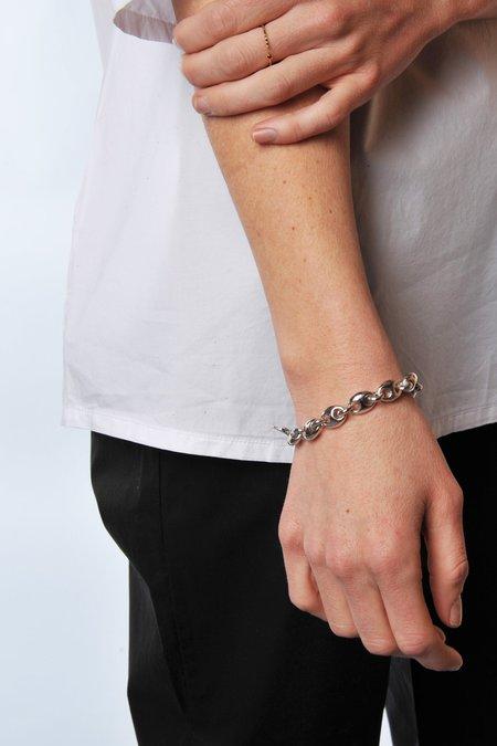 Gabriela Artigas White Plated Egg Link Bracelet