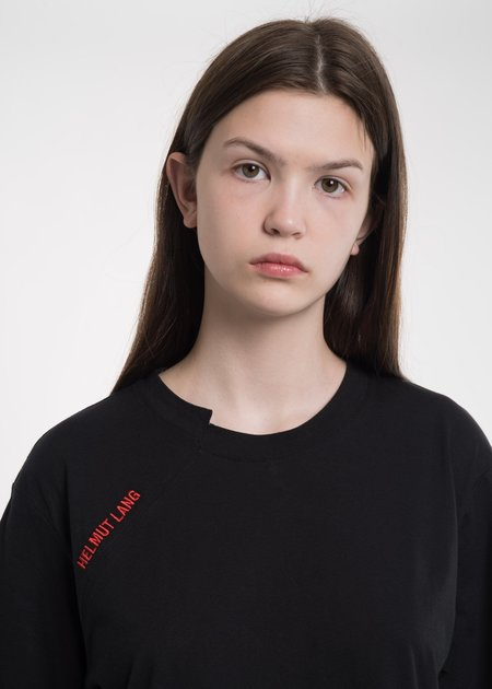 Helmut Lang Black Cut Neck T-Shirt