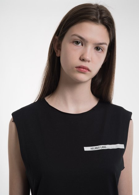 Helmut Lang Black Raw Edge Muscle Tank