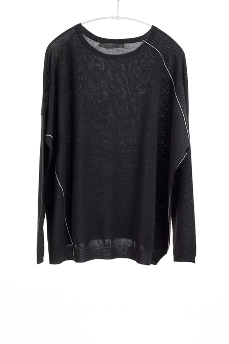 Paychi Guh Cashmere Panel Top - Black