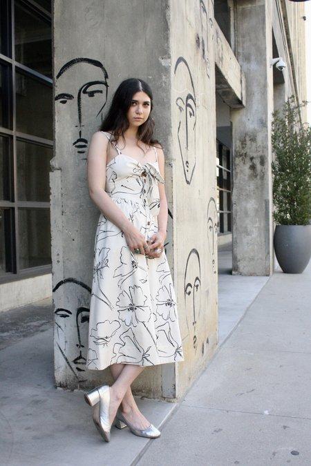 WHiT Loli Dress - Ivory/Black