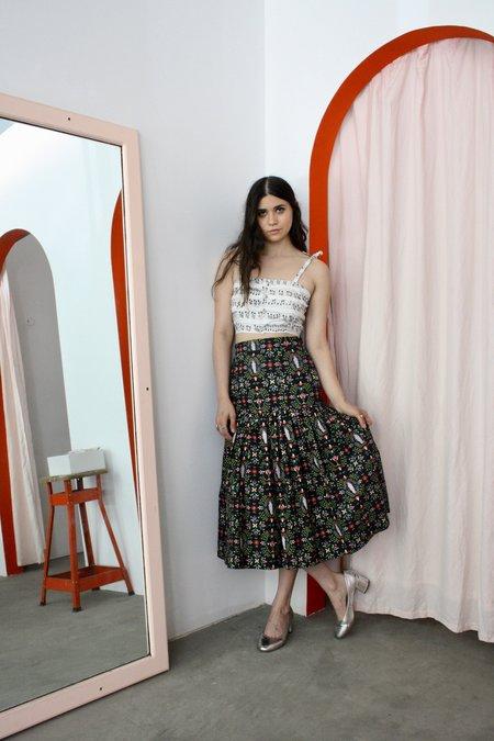 Rachel Antonoff Dorothea drop waist skirt