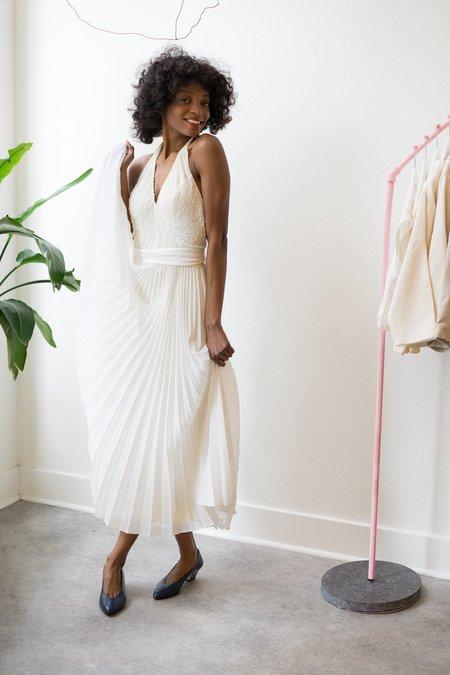 Backtalk PDX Vintage Wedding Dress Low Back Halter