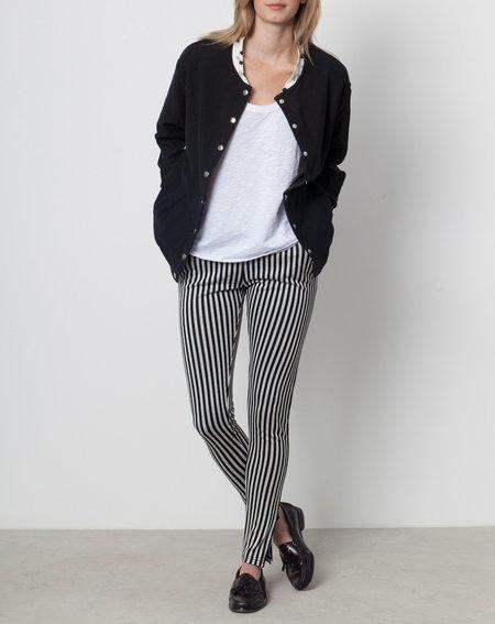 Margaux Lonnberg Arthur Snap Front Sweatshirt in Black Tiger