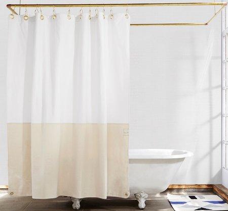 quiet town Orient Shower Curtain - Sand