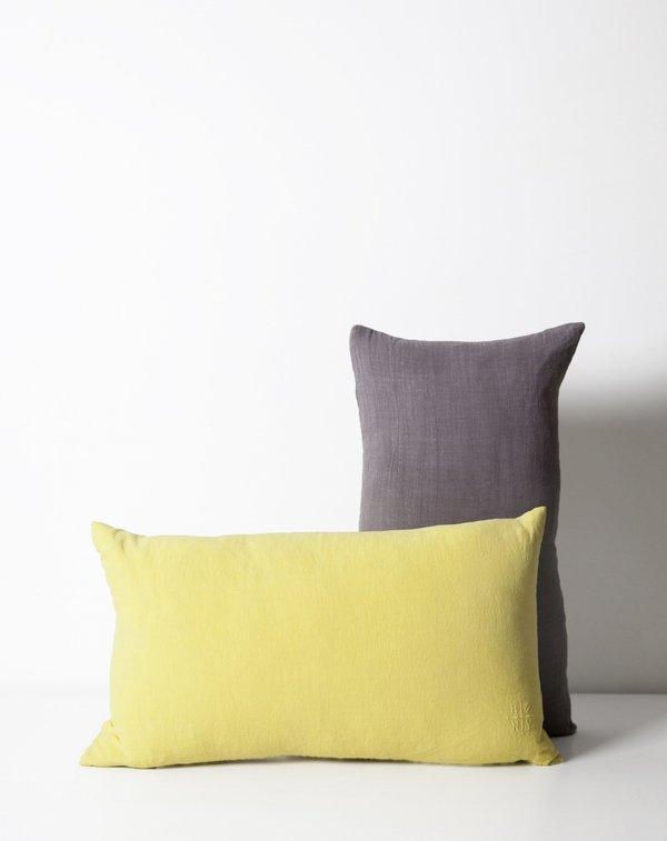 Hawkins New York Simple Linen Pillow in Citron