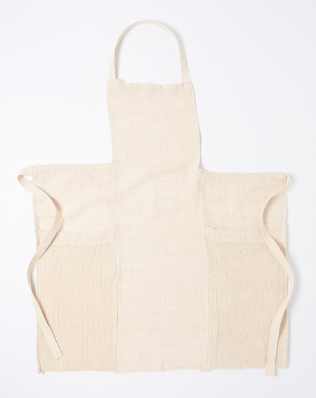 Sin Solid Stripes Apron - Natural
