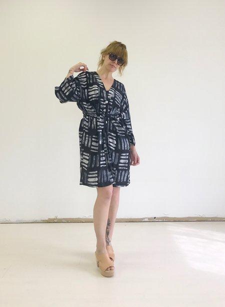 Osei-Duro Kimono Robe - Black Basket