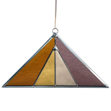Debbie Bean Triangle Suncatcher - Summer