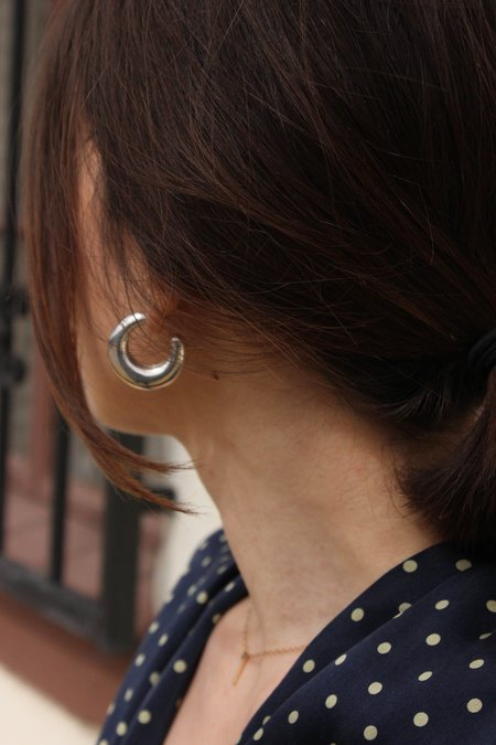 Leigh Miller Sterling Silver Bubble Hoops