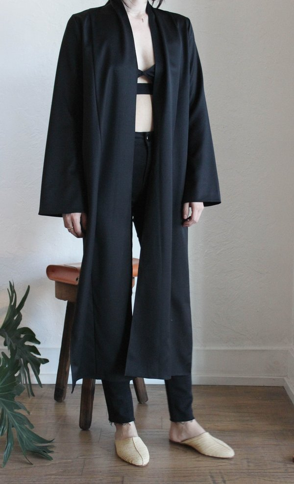 VOZ Wrap Blouse - Black