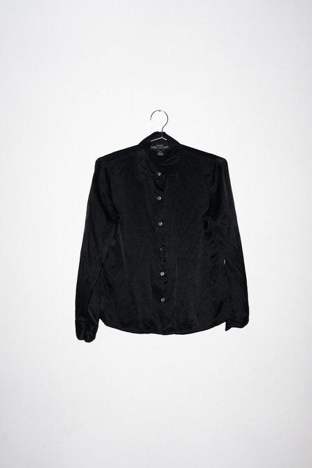 Clan of Cro Vintage SILK BUTTON UP - Black