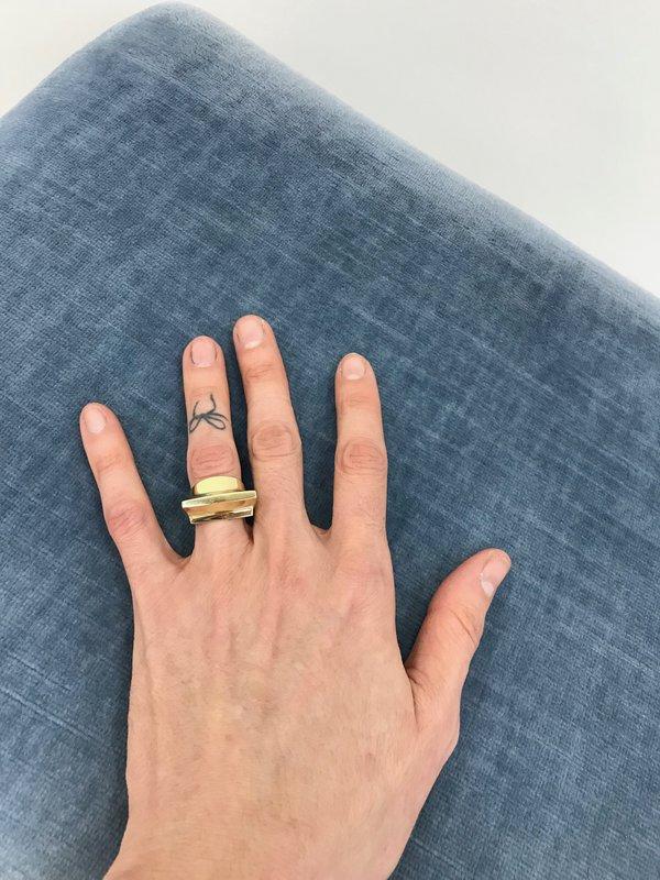 Quarry Toltec Ring in Brass