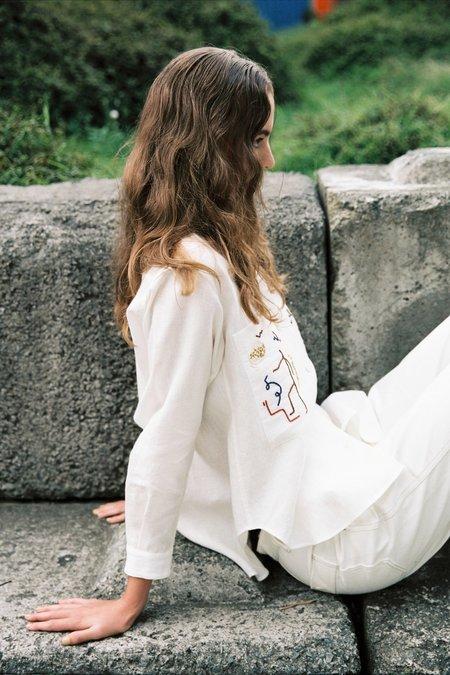 Sherie Muijs Shirt No. 22 - Creme
