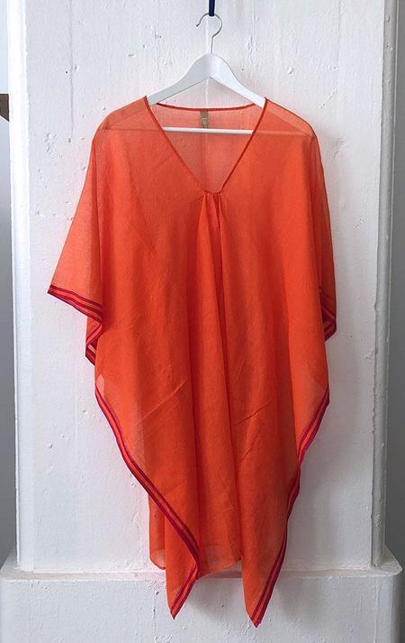 Two Sheer Caftan - Orange