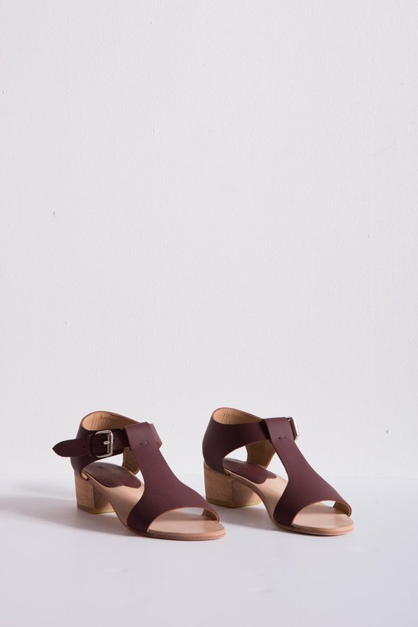 A Détacher Highsmith Sandal Leather - Bordeaux