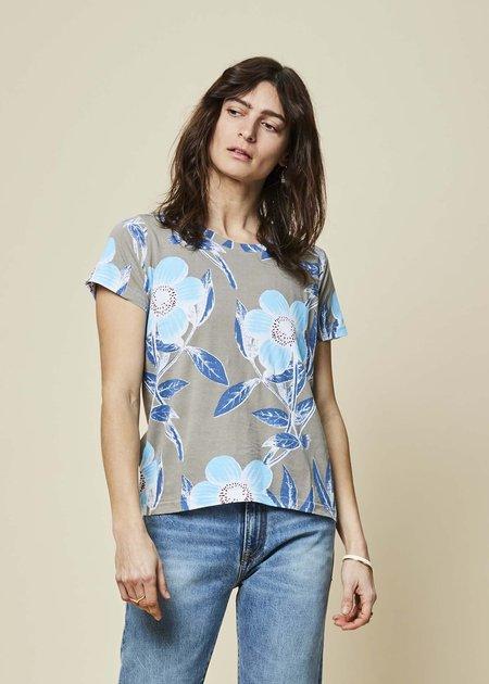 Epice Blossom Print Tee - Grey/Blue