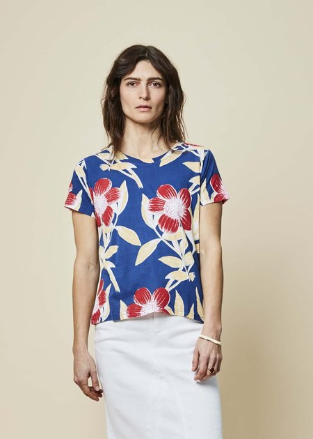 Epice Blossom Print Tee - Ultramarine/Red
