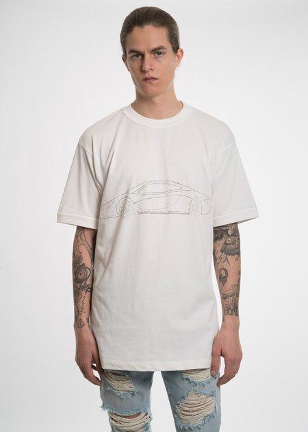 Ih Nom Uh Nit Car Print T-Shirt - White