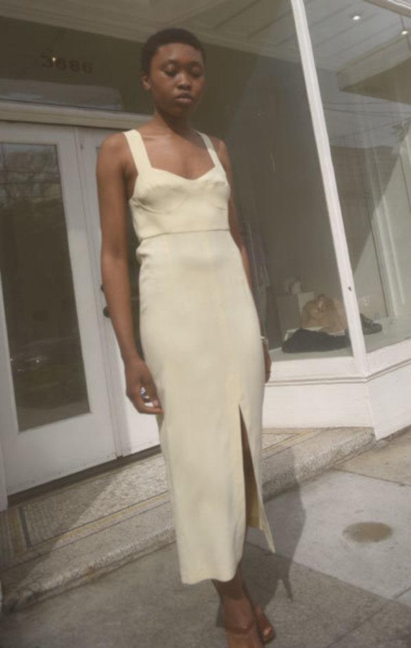 Waltz Bralette Dress - Almond