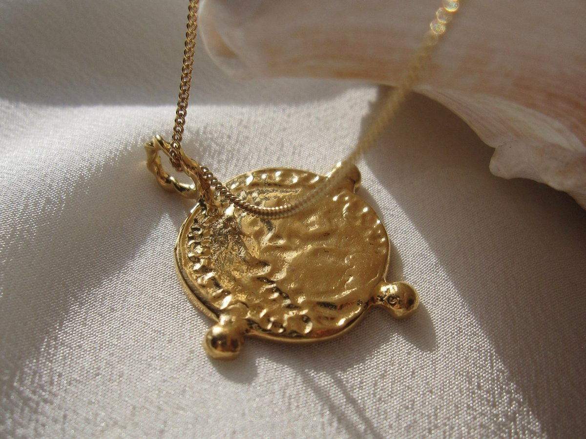 il popular boho necklace listing pendant everyday cross gold fullxfull disc silver modern round large jewelry medallion