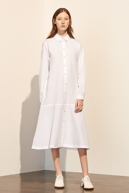 Kowtow Monologue Shirt Dress in White