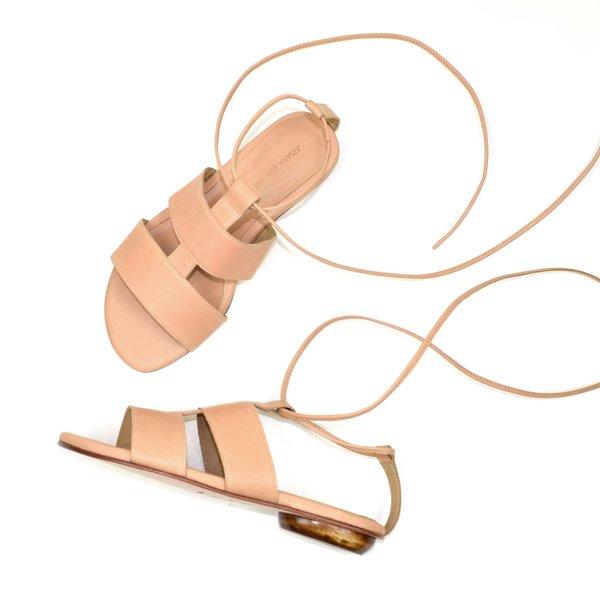 Ariana Bohling Kaya Gladiator Sandal Natural