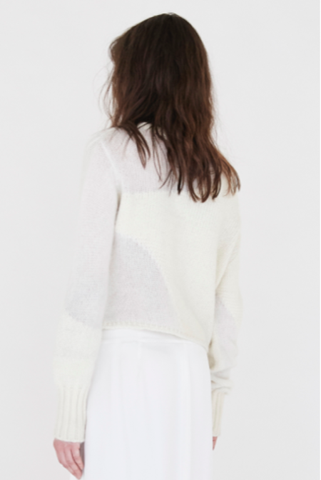 KES Cropped Intarsia Cashmere Sweater