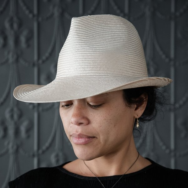 Reinhard Plank Dennis Straw Para Hat in Natural
