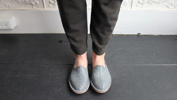 Unisex Vayarta Slip Ons in Grey Terrazzo