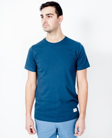 Norse Projects Niels Basic Tee - Boundary Blue