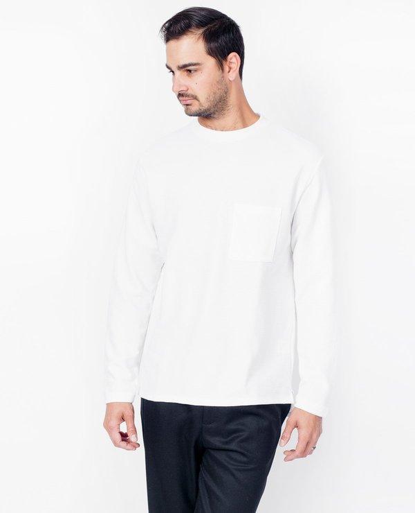Still By Hand Mock Neck Shirt - White