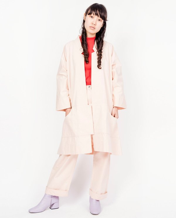 Wray Port Oversized Jacket - Clay Pink