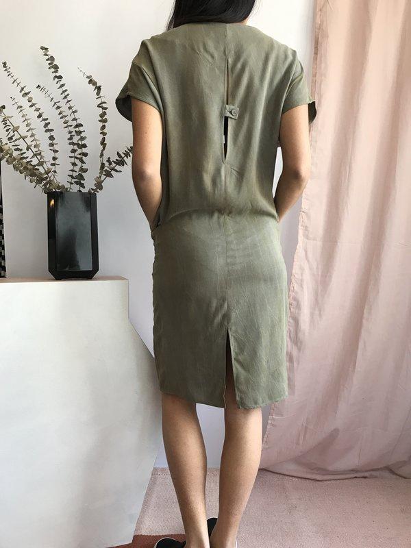 Valérie Dumaine Rochelle Dress - Khaki