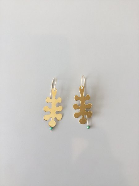 I. Ronni Kappos Gold Dipped Leaves Earrings
