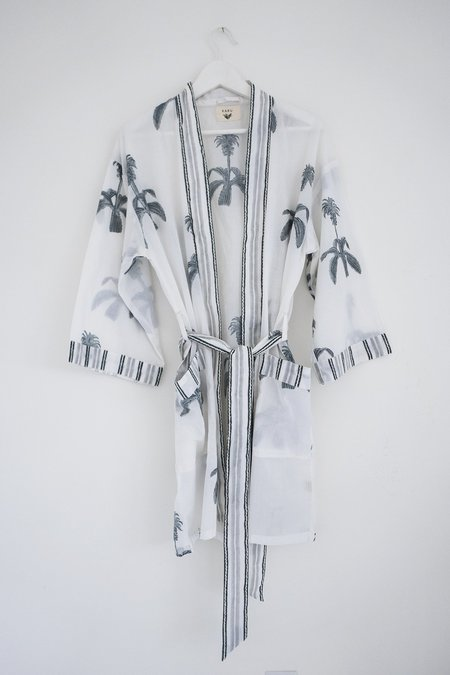 Karu Pineapple Flower Robe - Blue