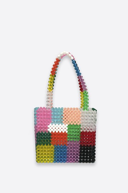 Susan Alexandra Beaded Ash Bag - Patchwork Pattern