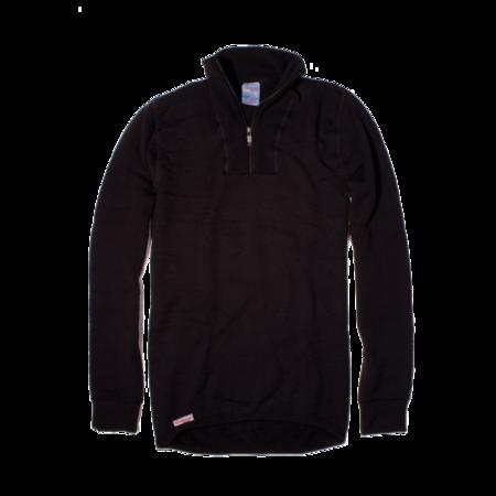 Unisex Woolpower 200g Half Zip Turtleneck - Black