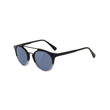 Unisex Vuarnet Cable Car Round Sunglasses - Black/Grey