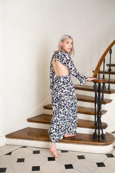 Between Ten Ysabel Dress - Navy Lei